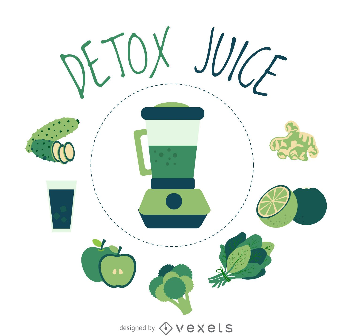clean detox juice element poster vector download. Black Bedroom Furniture Sets. Home Design Ideas