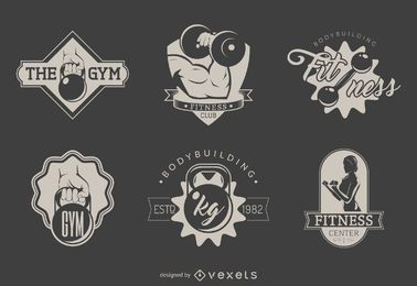 Conjunto de modelo de logotipo de ginásio