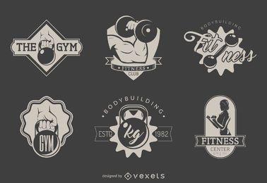 Conjunto de modelos de logotipo de ginásio