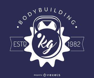 Modelo de logotipo de ginásio de fitness musculação