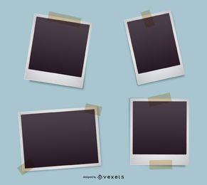 Polaroid conjunto de quadros