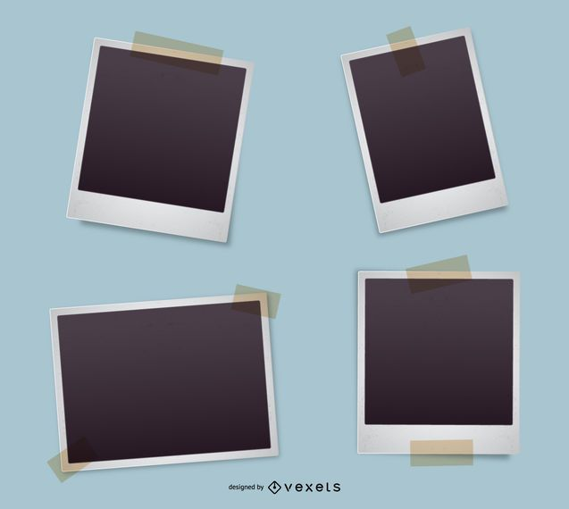 Polaroid Frame Set  Vector Download