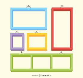Colorful frame set