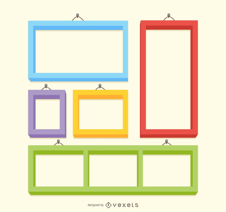 colorful frame set download large image 1405x1312px
