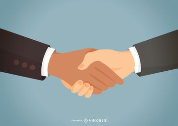 Partner handshake flat illustration