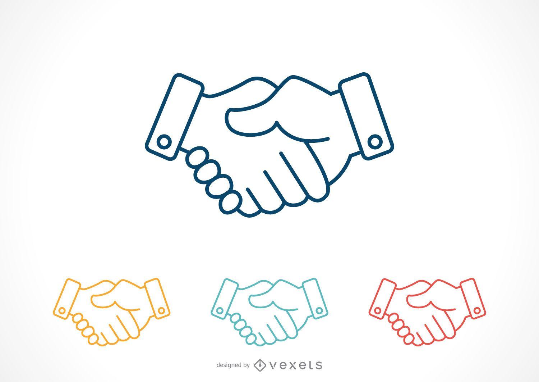 Handshake icon set