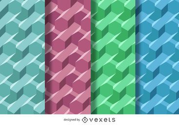3D polygonal pattern set