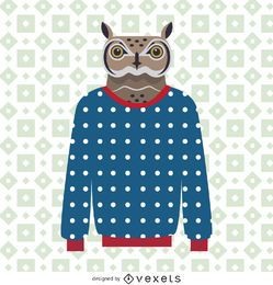Sweater owl illustration