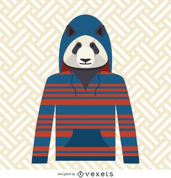 Panda with hoodie illustration