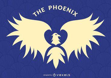 Phoenix Vogel Label Logo Vorlage