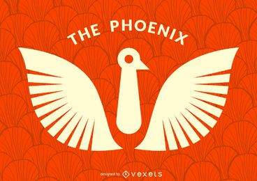 Bird phoenix logo template