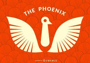 Vogel Phoenix Logo Vorlage