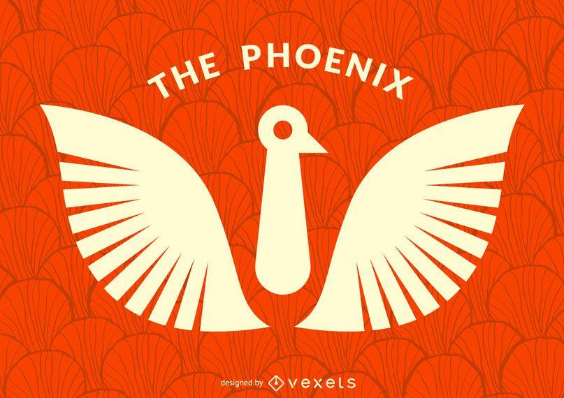 Plantilla de logotipo de ave phoenix