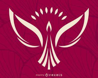 Plantilla minimalista de logotipo de phoenix