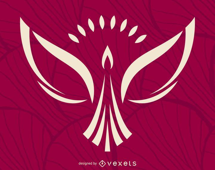 Minimalist phoenix logo template