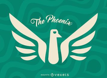 Phoenix myth bird label