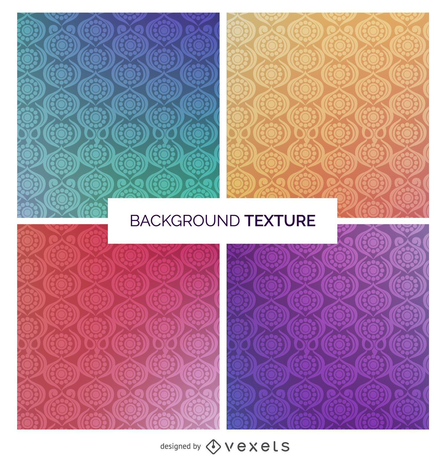 Conjunto de textura ornamental gradiente