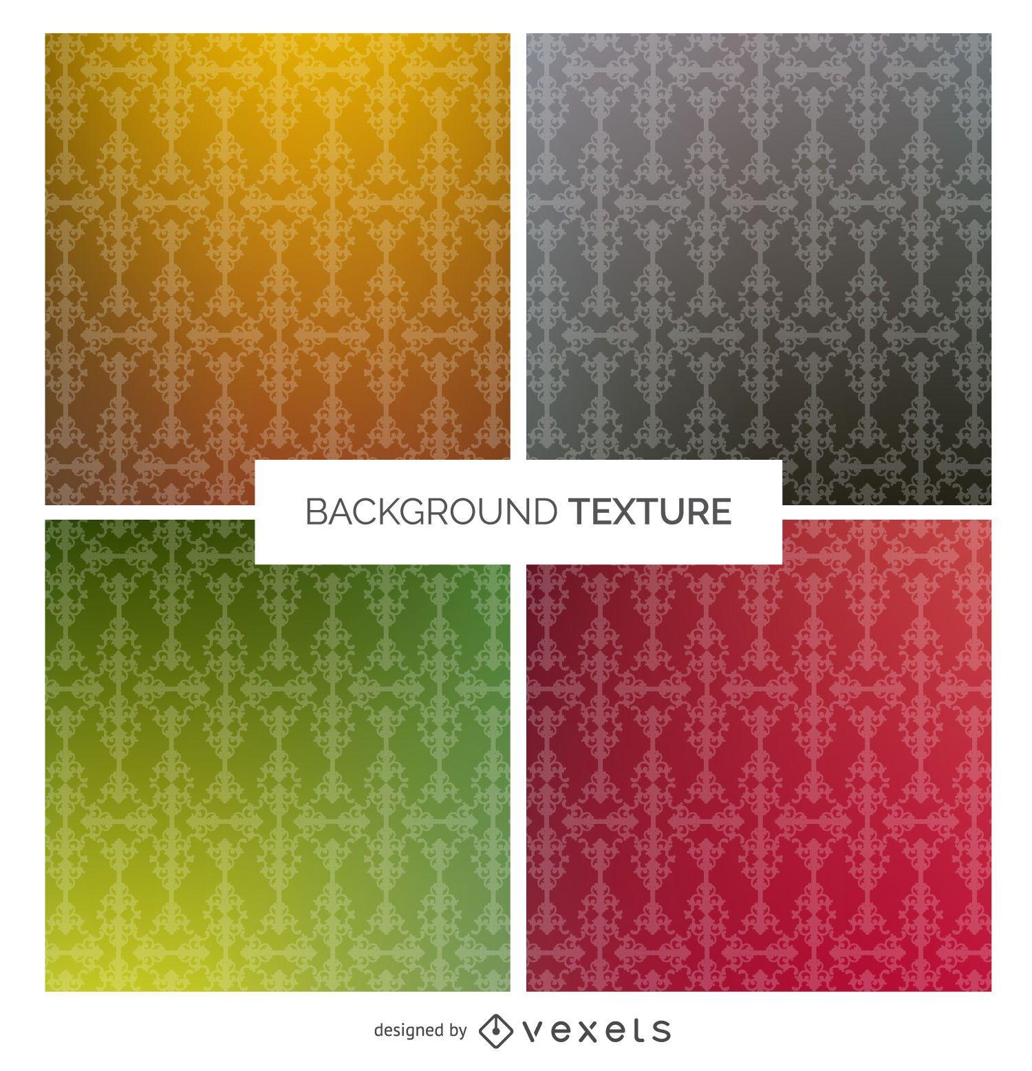 Conjunto de patrones ornamentales vintage