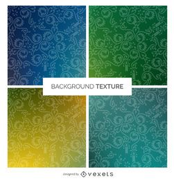Gradient swirl decoration texture set