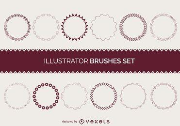Illustrator brushes coleção de quadros