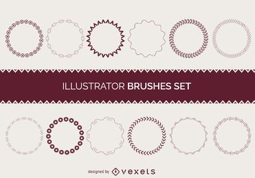 Illustrator brushes frame collection