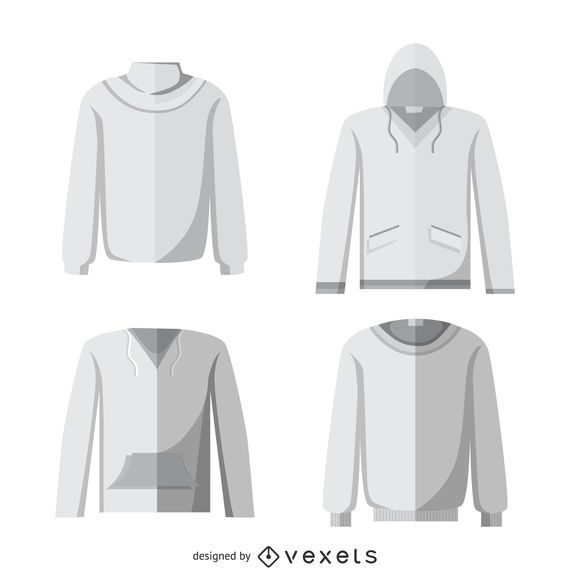Blank hoodie mockup set vector download blank hoodie mockup set pronofoot35fo Choice Image