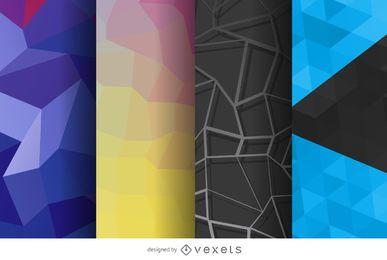 Conjunto de fondo poligonal