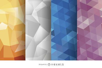 Abstract polygonal background set