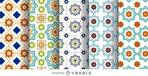 Conjunto de patrón de Ramadán árabe