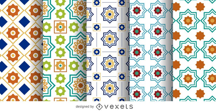 Arabic Ramadan pattern set