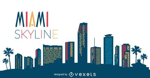 Miami skyline silhouette