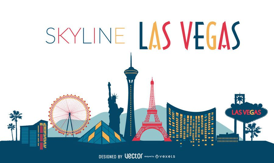 Las Vegas illustrated skyline