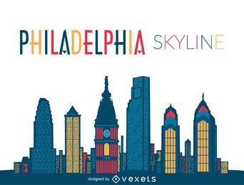 Ilustração do horizonte da Filadélfia