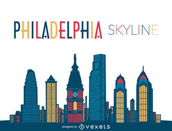 Philadelphia-Skyline-Abbildung