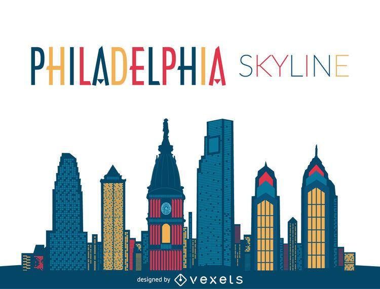 Ilustración del horizonte de Filadelfia
