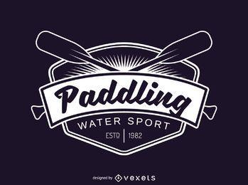 Plantilla de logotipo de etiqueta de deporte de remo