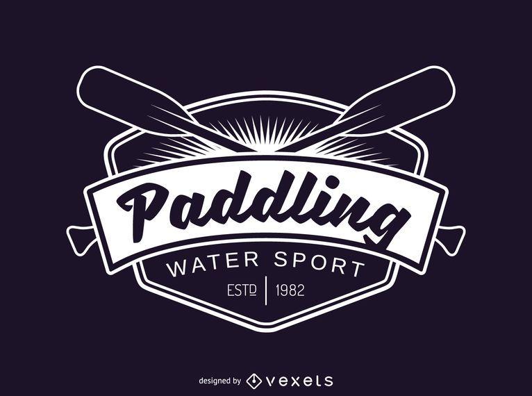 Paddling sport label logo template