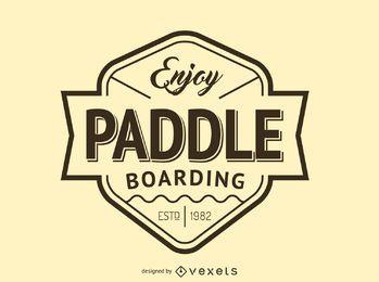 Hipster-Paddel-Logo-Vorlage