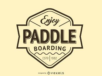 Hipster paddling logo template