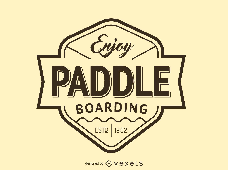 Hipster paddling logo template