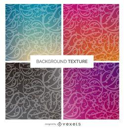 Conjunto de textura de fundo gradiente redemoinho