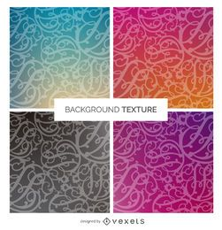 Gradient swirl background texture set