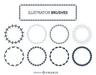 Conjunto de pinceles ilustrador marco