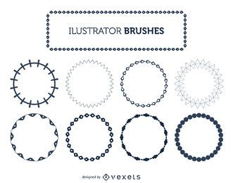 Illustrator frame brushes set
