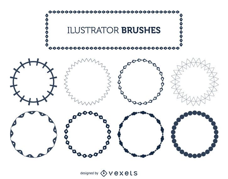 Illustrator Rahmenpinsel eingestellt