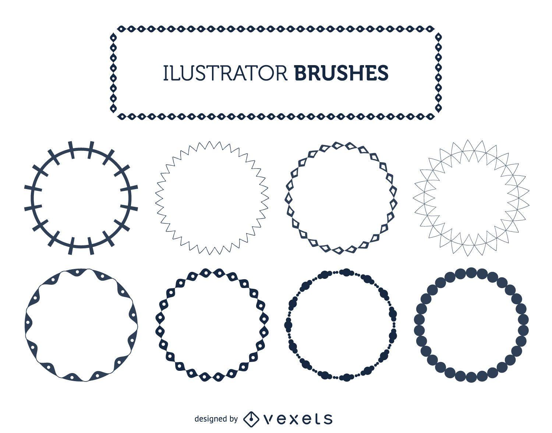 Illustrator frame brushes set
