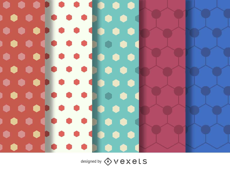 Hexagon polygonal pattern set
