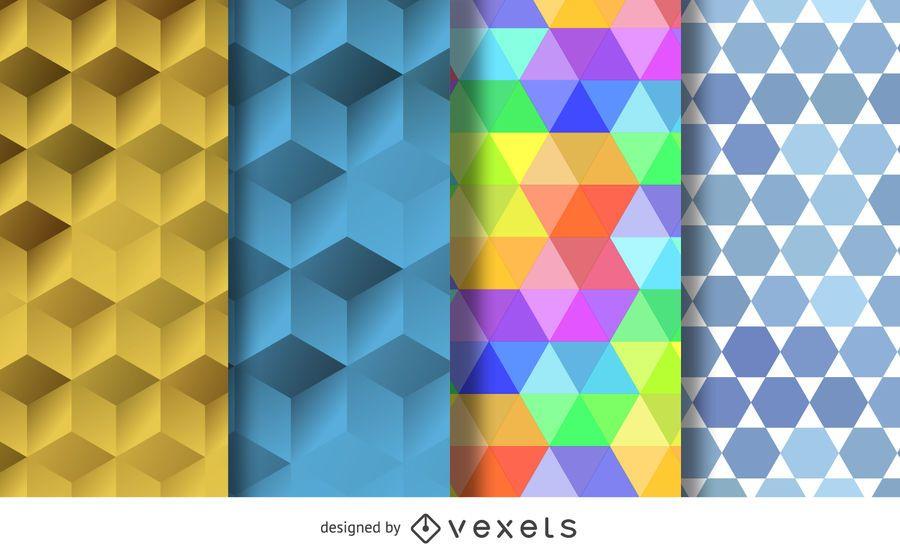 Seamless polygonal pattern set