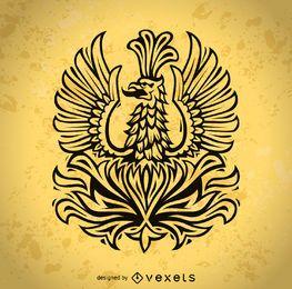 Phoenix ilustração do pássaro