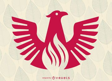 logotipo do pássaro plana Phoenix